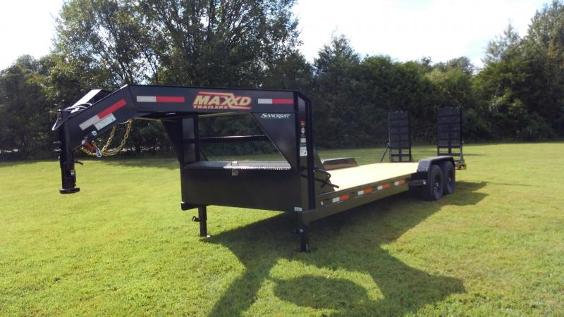 2020 MAXXD 83X24(22+2) TANDEM 14K GOOSENECK W/ EQUIPMENT STAND UP RAMPS