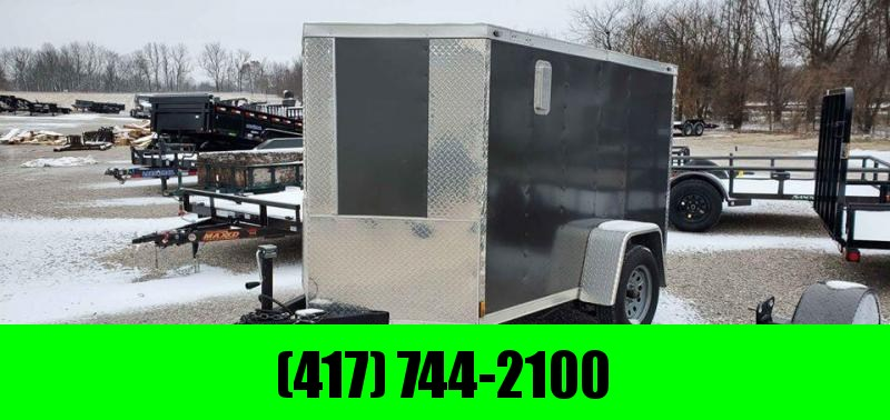 2018 Diamond Cargo 5x8 Single Axle w/Curbside door Ladder Rack Shelving Drings & Mounted Spare