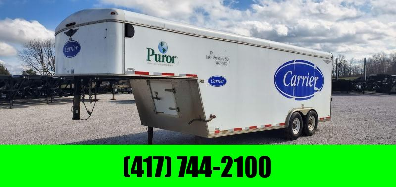 2003 H and H 8.5X18 GN WHITE ROUND TOP CARGO W/7' HEIGHT