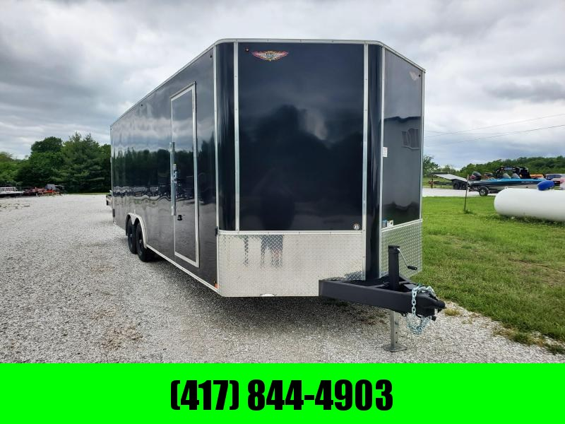 2020 H and H Trailer 101 X 24 BLACK CARGO 10K  HEIGHT 7'