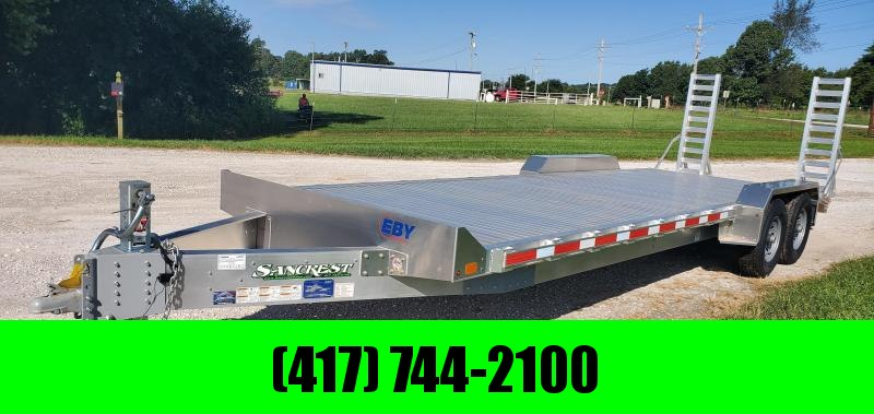 2019 EBY 82X24 TANDEM 14K ALUMINUM EQUIPMENT TRAILER W/STAND UP RAMPS