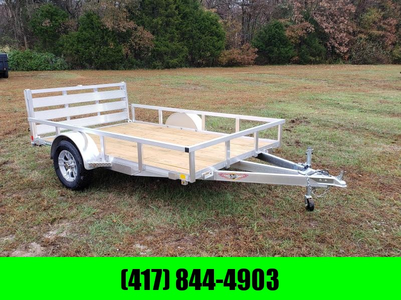 2020 H&H 76X10 SINGLE 3K ALUMINUM UTILITY W/TUBE TOP RAILING & BI-FOLD GATE