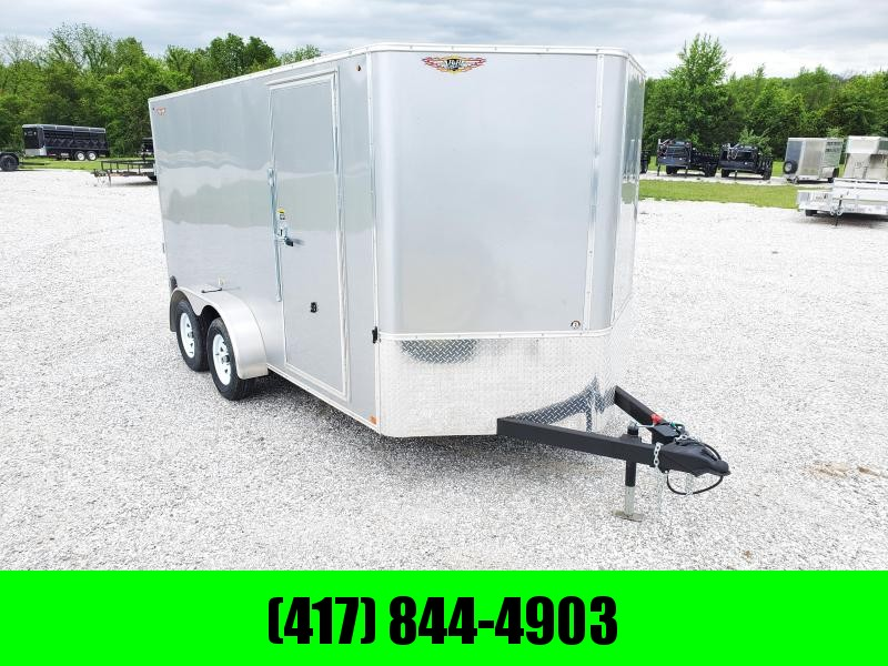 "2020 H and H 7X14 TANDEM 7K SILVER METALLIC MIST CARGO W/6'6"" HEIGHT"