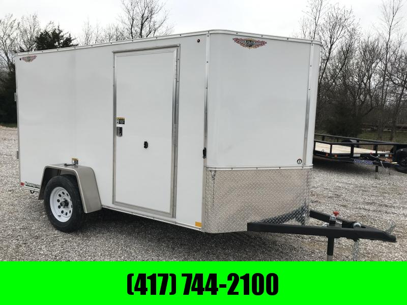 2019 H&H 5X10 WHITE CARGO W/ RAMP DOOR & CURBSIDE DOOR