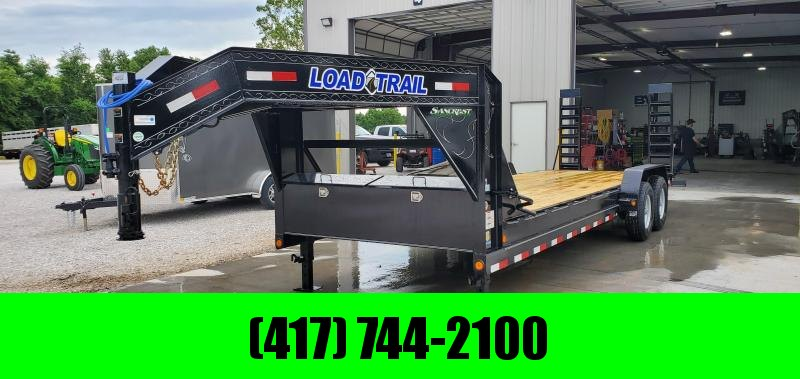 2019 Load Trail 83X24 TANDEM GOOSENECK CARHAULER W/ STAND UP RAMPS