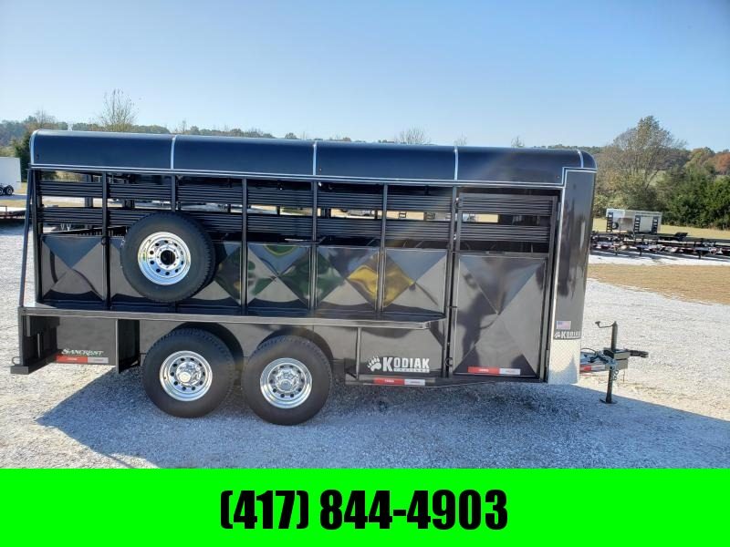 2019 KODIAK 16 X 6' X 8''  FLAT NOSE BUMPER STOCK TRAILER