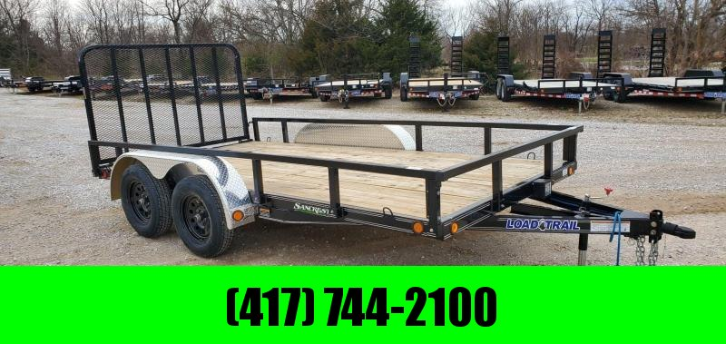 2020 Load Trail 83x14 TANDEM 7K UTILITY W/ 4' GATE & REMOVABLE RAILING/FENDERS