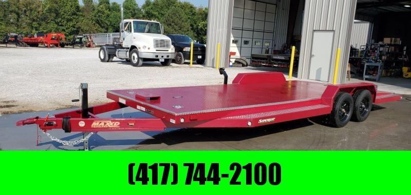 2020 MAXXD 83X22 TANDEM 7K RUBY RED METALLIC N5X CAR HAULER W/ WINCH PLATE & IN-FLOOR LIGHTS