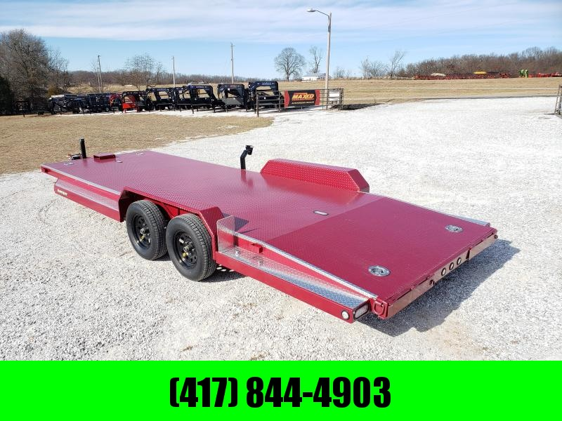 2020 MAXXD 83X22 TANDEM 7K RUBY RED METALLIC N5X CAR HAULER W/ WINCH PLATE & IN-FLOOR LIGHTS