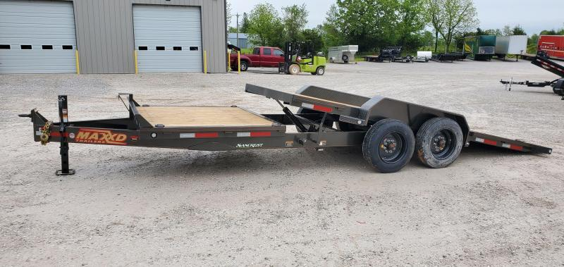 2020 MAXXD 83X22 TANDEM 16K G8X GRAVITY TILT W/6' STATIONARY DECK & 8K AXLES