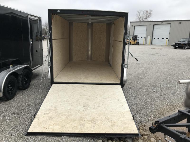 "2019 H&H TANDEM BLACK Enclosed Cargo Trailer W/6'6"" HEIGHT"
