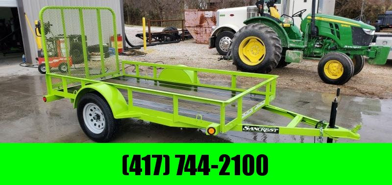 2017 Load Trail 60X10 SINGLE 3.5K SAFETY GREEN SINGLE UTILITY W/4' GATE & BLACKWOOD OUTER DECK