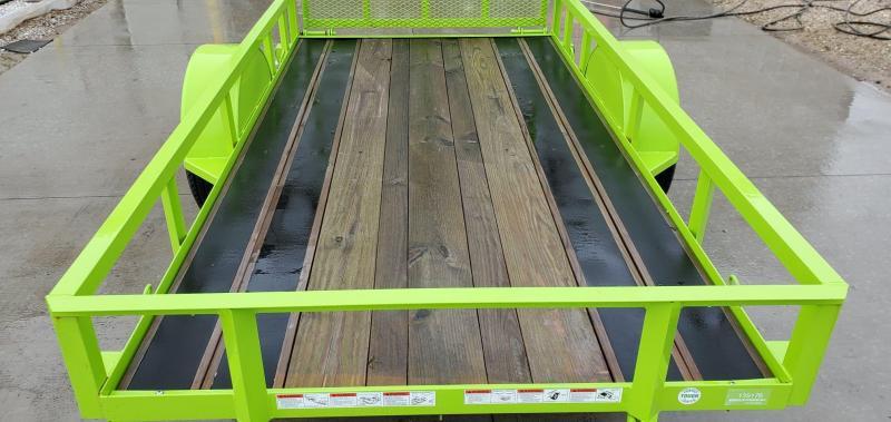 2017 Load Trail 60X10 SINGLE 3.5K SAFETY GREEN SINGLE UTILITY W/4' GATE & BLACKWOOD OUTER DECK