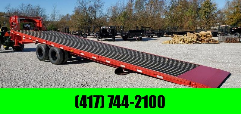 2020 MAXXD 102X32 TTX SLIDE-X FLAME RED GOOSENECK TRAILER W/HYDROJACKS BLACKWOOD FLOOR & 14 PLY TIRES