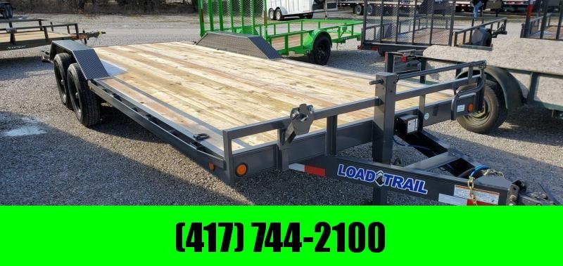 2020 Load Trail 102x22 TANDEM 14K GRAY CAR/EQUIPMENT HAULER W/DRIVEOVER FENDERS