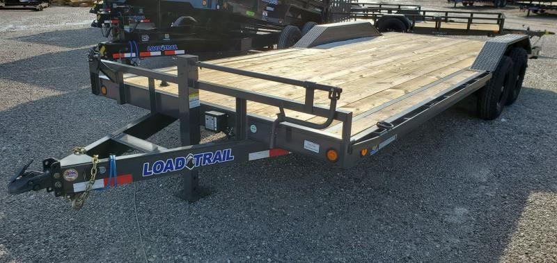 2020 Load Trail 102x22 TANDEM 14K GRAY CAR/EQUIPMENT HAULER W/DRIVEOVER FENDERS