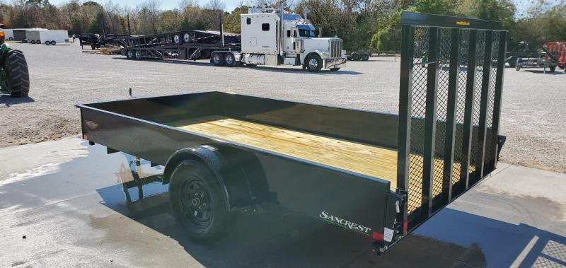 """2020 H&H 76X12 SINGLE 3.5K SOLID SIDE (15"""" TALL) UTILITY W/4' TUBE GATE W/SPRINGS"""