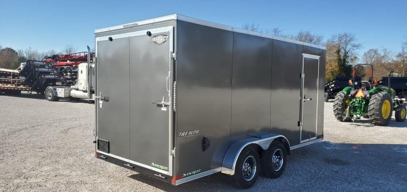 2020 Impact 7X16 TANDEM 7K CHARCOAL TREMOR CARGO W/7' HEIGHT