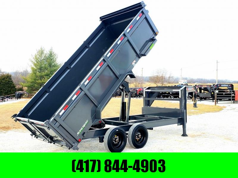 """2020 Load Trail 83"""" x 16' TANDEM AXLE GOOSENECK DUMP TRAILER WITH 8KS AND 17.5s"""