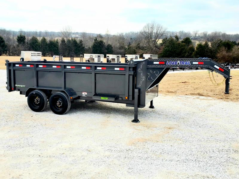 "2020 Load Trail 83"" x 16' TANDEM AXLE GOOSENECK DUMP TRAILER WITH 8KS AND 17.5s"