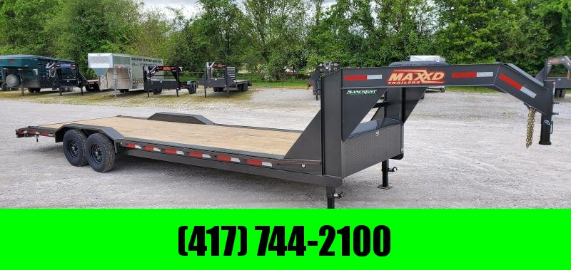 2020 MAXXD 102x28 TANDEM 14K H8X GOOSENECK CAR HAULER W/ SLIDE OUT RAMPS