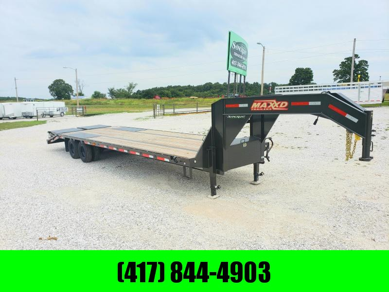 2019 MAXXD 102x32 TANDEM LO-PRO GOOSENECK W/10K AXLES & MAXXD OUT RAMPS