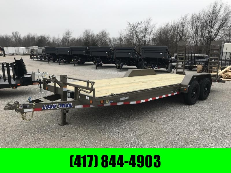 2019 Load Trail 83x22 WESTERN METALLIC Equipment Trailer w/7k axles and flip ramps