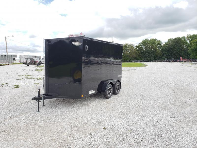 2020 Impact 7x12 TANDEM 7K BLACK OUT CARGO W/7' HEIGHT