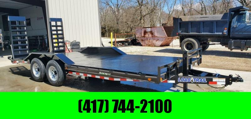2020 Load Trail 102X20 TANDEM 14K CAR/EQIPMENT HAULER W/ STEEL FLOOR DRIVEOVER FENDERS & HD EQUIPMENT STAND UP RAMPS