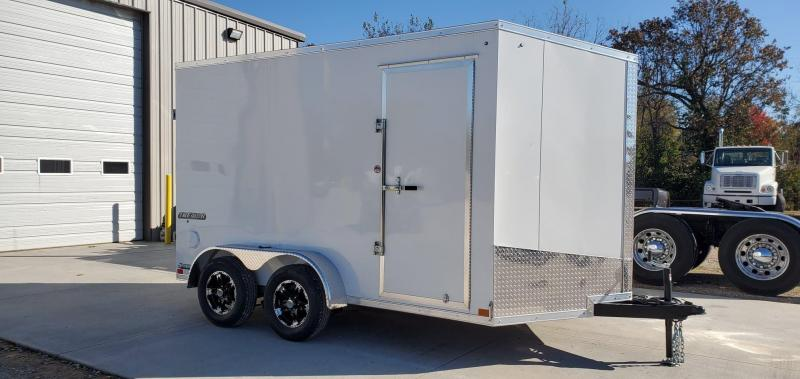2020 Impact 7X12 TANDEM 7K WHITE CARGO W/ALUMINUM WHEELS & 7' HEIGHT