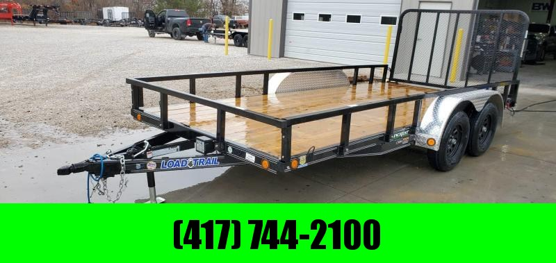 2020 Load Trail 83x16 Tandem 7K UTILITY W/REMOVABLE TUBE TOP RAILING & 4' TUBE GATE