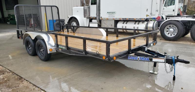 2020 Load Trail 83x16 Tandem 7K UTILITY W/REMOVABLE TUBE TOP RAILING & 4' TUBE GATE