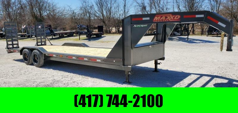 "2020 MAXXD 102X26 TANDEM 16K H8X GOOSENECK BUGGY HAULER W/8K AXLES(17.5""/16PLY) & HD EQUIPMENT STAND UP RAMPS"