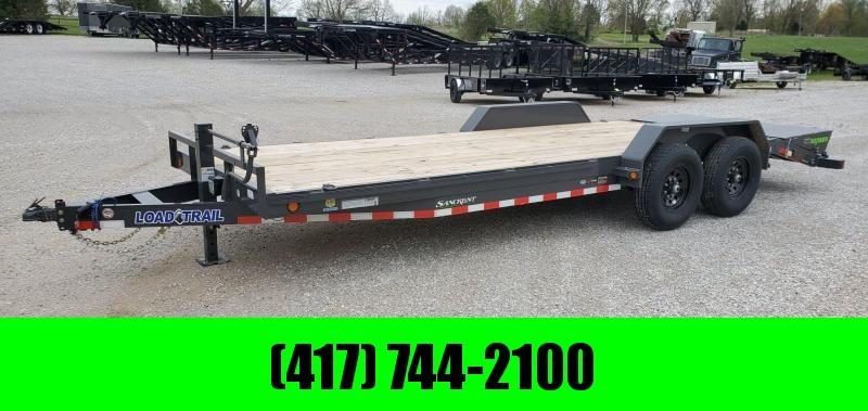 2020 Load Trail 83x22 TANDEM 14K GRAY CAR/EQUIPMENT HAULER W/MAX RAMPS