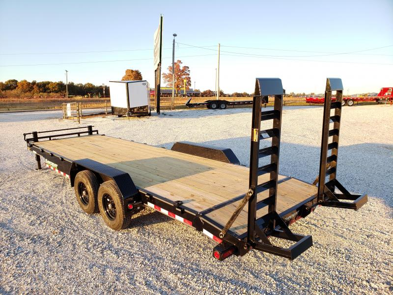 2020 Load Trail 83x24 TANDEM 14K CAR/EQUIPMENT HAULER W/ STAND UP RAMPS