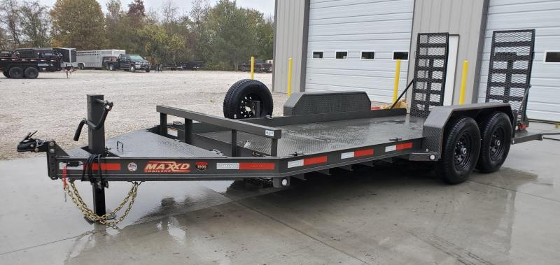 2020 MAXXD 81X16 TANDEM 14K SKID STEER TRAILER W/EQUIPMENT STAND UP RAMPS