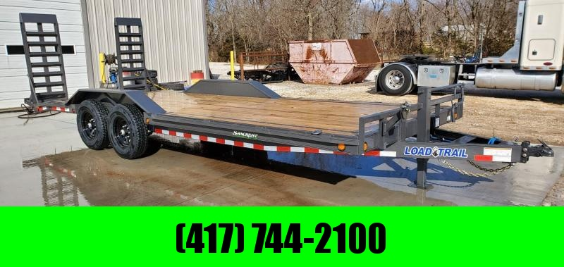 2020 Load Trail 102X22 TANDEM 14K GRAY CAR HAULER W/  DRIVE-OVER FENDERS & HD EQUIPMENT RAMPS