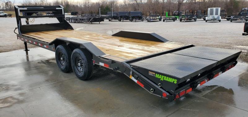 "2020 Load Trail 102X26 TANDEM 14K GOOSENECK EQUIPMENT/CAR HAULER W/ DRIVE-OVER FENDERS 8"" FRAME & MAX RAMPS"
