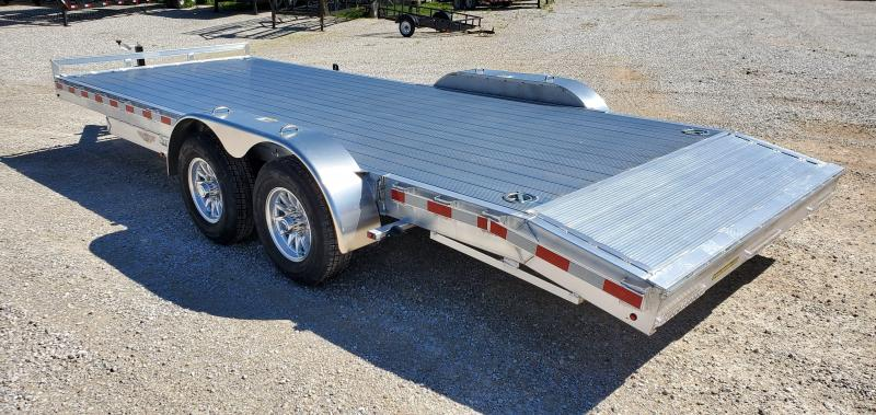 2020 H and H 82X20 TANDEM 10K ALUMINUM CAR HAULER W/SLIDE OUT RAMPS