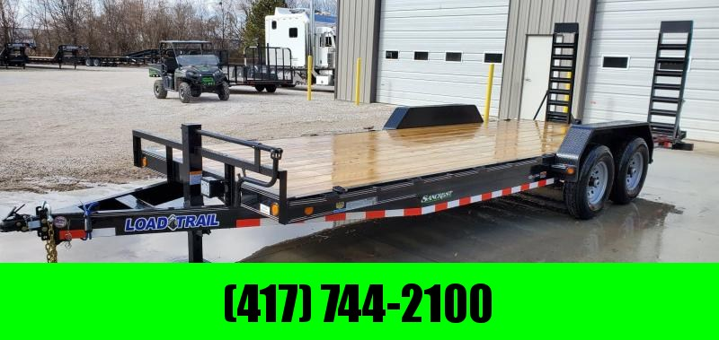2020 Load Trail 83x22 TANDEM 14K CAR HAULER W/STAND UP RAMPS & RUB RAIL