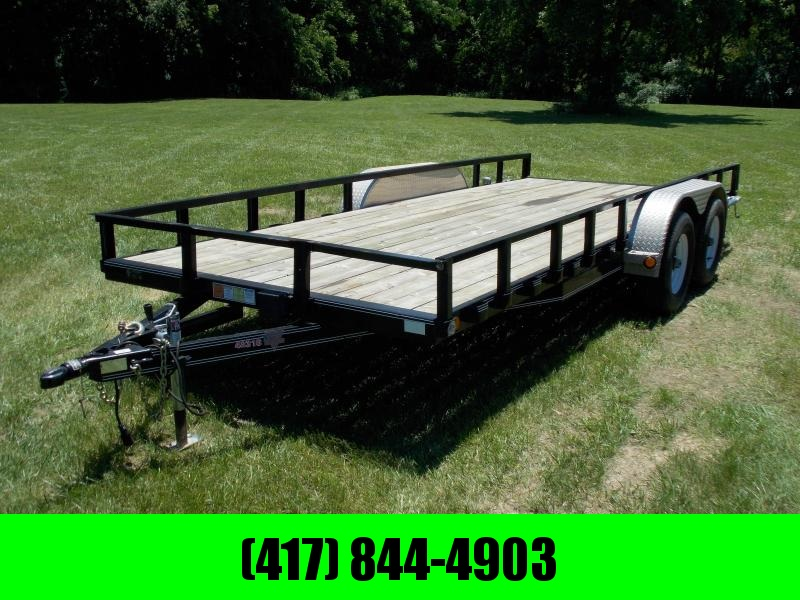 2016 P J 83 X 18 UTILITY TRAILER W/ REMOVABLE SIDE RAILS
