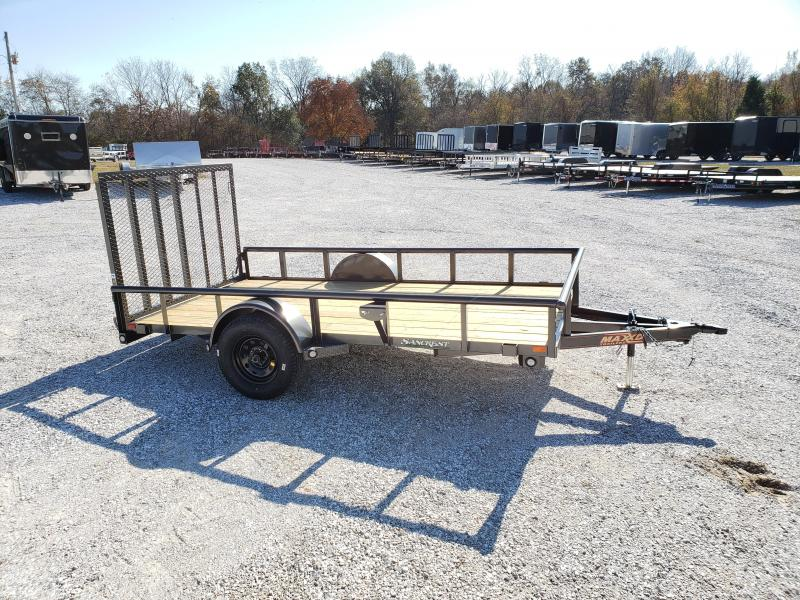 """2020 MAXXD 77X12 SINGLE 3.5K PIPE TOP UTILITY W/4"""" CHANNEL TONGUE & 4' SPRING GATE"""