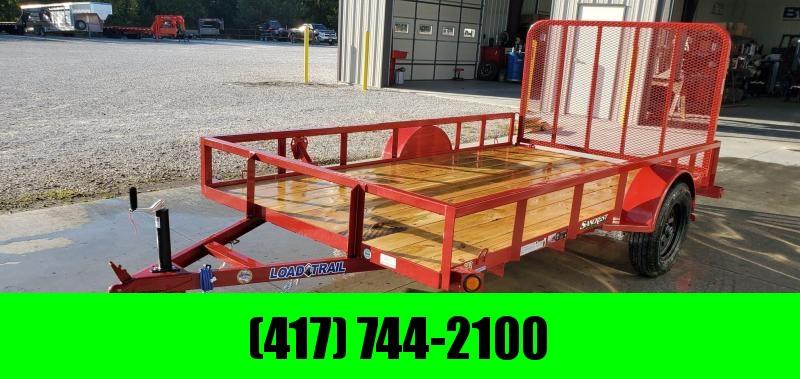 2020 Load Trail 77x12 SINGLE 3.5K RED UTILITY W/TUBE TOP & 4' TUBE GATE