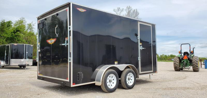 "2020 H and H 7X14 TANDEM 7K BLACK CARGO W/6'6"" HEIGHT"