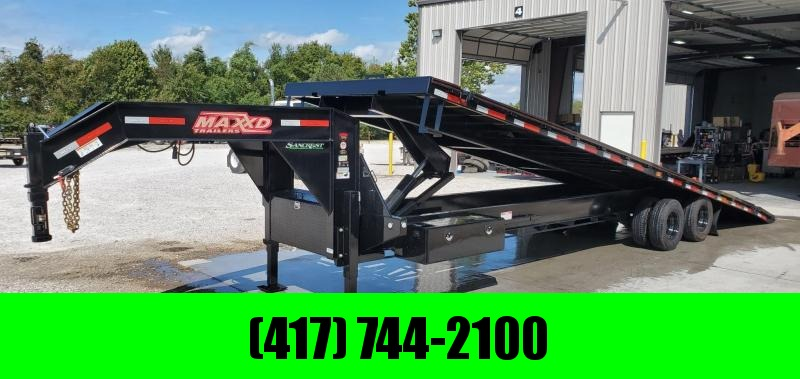 2020 MAXXD 102X32 TDX FULL-TILT GOOSENECK W/12K AXLES & HYDRAULIC JACKS