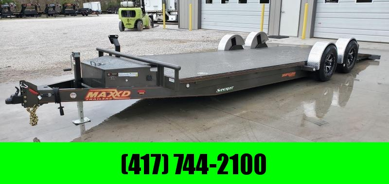 2020 MAXXD 80X24 TANDEM 10K METALLIC GRAY DROP-N-LOAD CAR HAULER W/AIR RIDE SUSPENSION