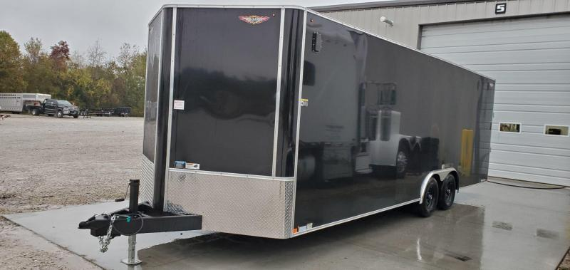 2020 H&H 101X24 TANDEM 10K BLACK CARGO W/7' HEIGHT