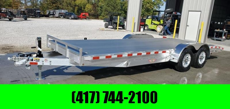 2020 H&H 82X20(18+2) TANDEM 10K ALUMINUM CAR HAULER W/TORSION AXLES EXTRUDED DECK & SLIDE OUT RAMPS