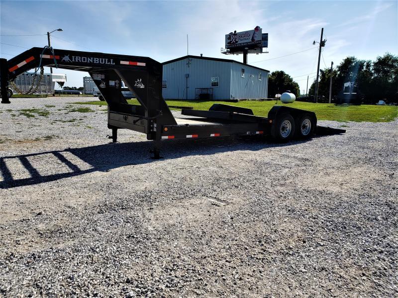 "2018 Iron Bull 83"" X 22' Tilt-N-Go Gooseneck Tandem Axle Tilt Deck"
