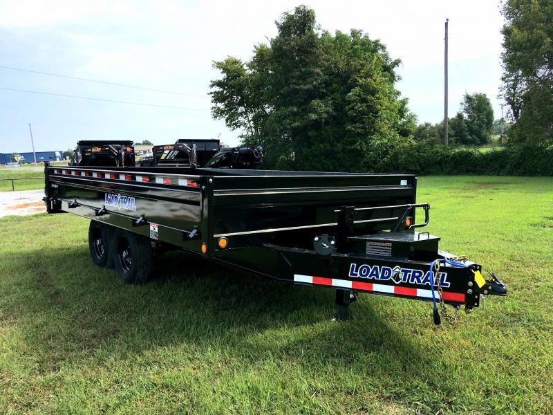 "2020 Load Trail 96"" x 16' Tandem Axle Pintle Hook Deck Over Dump Trailer"